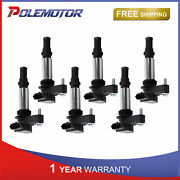6x Ignition Coils For Buick Enclave Saab 9-3 Chevy Vectra Cadillac Cts Sts Srx