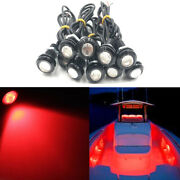 10x Red Led Boat Light Waterproof Outrigger Spreader Transom Underwater Night