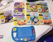 Leap Frog My First Leappad Blue Learning System Books Cartridges Lot 8 Books