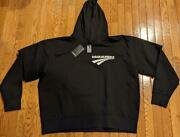 580 Mens Dsquared2 Logo Hoodie With T-shirt Sleeves Black/white Xl