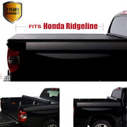 Soft Lock And Roll Up Tonneau Cover For Honda Ridgeline 2017 2018 2019 2020 2021
