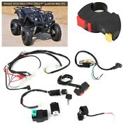 Electric Start Engine Wiring Harness Kit Fit For 50cc 110cc 125cc Pit Quad Dirt