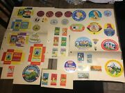 Lot, 56 Tags Antique Of Cheese Camembert Teams Vintage