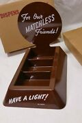 Vintage Match Dispenser - For Our Matchless Friends - Brown - Nos - Have A Light