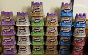 Lotof26kinetic Sand 6 Blue 4 Green And 5 White 2pink 4purple 5tan 4.5 Oz Each