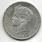 Alfonso Xiii 1898 Sgv 5 Ptas Tupe @excellent@