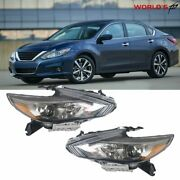 New Chrome Headlights For 2016 2017 2018 Nissan Altima Factory Style Lh Rh 2pcs