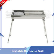 Portable Barbecue Grill Charcoal Stove Outdoor Party Stainless Steel Camping New