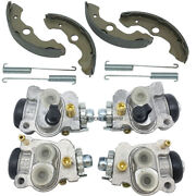Front Brake Wheel Cylinders All Four With Shoes For Honda Trx350 Rancher 2x4 4x4