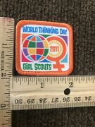 """Lot Of 4 Girl Scout Fun Patches """"world Thinking Day 2011 Girl Scouts"""""""