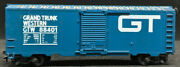 Lionel Grand Trunk Western Gtw 88401 Blue Boxcar. Ho Scale H0 Vintage