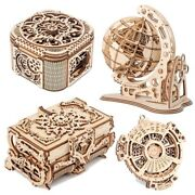 Wooden Jewelry Box Assembled Creative Diy Puzzle Mechanical Gift Antique Model 3
