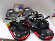 Atlas Hiking Snowshoes Model 821 Red And Black 150 Lbs Nwt Vtg Bindings Needed Usa