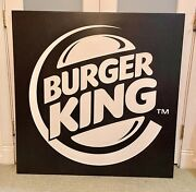 Rare Burger King Home Of The Whopper Burger Fast Food Restaurant Sign Table Top