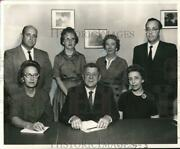 1962 Press Photo Paul Solis With Other Jefferson Parish Welfare Board Officers