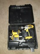 Dewalt Dw959 18v Cordless Hammer 1/2 Drill With Extra Battery, Charger, Case