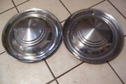 Pair Of Mid 50's Unbranded 15 Hubcaps Desoto Dodge Plymouth Chrysler Pontiac