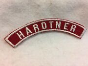 B42 Boy Scouts - Hardtner Red And White Community Strip Shoulder Patch