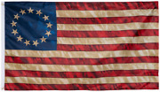 Betsy Ross Flag 3x5 Ft Vintage Tea Stained 13 Stars American Flags Colonial