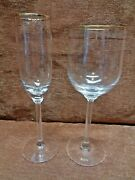 Lenox Liberty 1 Water Goblet And 1 Fluted Champagne
