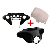 Abs Batwing Inner Outer Fairing 8 Windshield Fit For Harley Street Glide 96-13