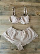 Jean Paul Gaultier Lether Nude Bra And Shorts Sz S