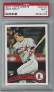 2011 Topps Traded Us175 Mike Trout Psa 9 Mint Rc Rookie Angels Mvp