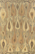 10x13 Sphinx All-over Casual Ivory 68000 Ikat Wool Area Rug - Approx 10and039 X 13and039