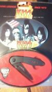 Rare Vintage Kiss Collectable Folding Knife And Tin..mintnew In Package