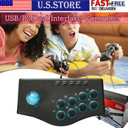 Usb/p2 Dual Interface Arcade Game Controller Battle Stick Rocker For Ps3 Ps2 Pc