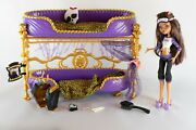 Monster High Room To Howl Bunk Bed And Dead Tired Clawdeen Wolf Playset 2011