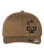 Customizable Embroidered Ace Of Spades Sniper Army Marines Hat Flexfit Poker