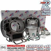 Set Cylinder Dr Evo 70cc D.48 Piaggio Zip Sp 50 2t Lc Sp.12 Cast Iron With Tee