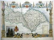 Yorkshire North Riding By Thomas Moule C1840 Genuine Antique Engraved Map