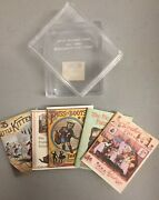 Miniature Book Set Of 5- 1.5 X 2- 3 Little Kittens, Puss In Boots, And More
