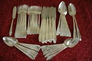 Gardenia Wm Rogers And Son Silverplate 51pc Flatware Set For 8 Forks Knives Spoons