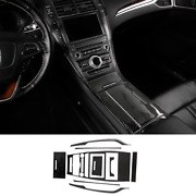 For Lincoln Mkz 17-2020 Real Carbon Fiber Center Console Dashboard Control Panel