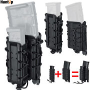 Soft Shell Molle Magazine Pouch For 5.56 7.62 9mm/45acp Rifle Pistol Mag Holder