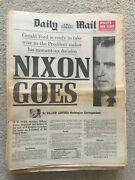 Daily Mail Newspaper August 9th 1974 President Richard Nixon Resigns