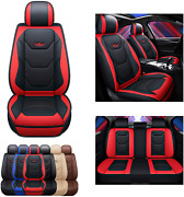 Sogloty Leather Car Seat Covers Auto Front Rear Cushion Cover For Cars Suv Pick-