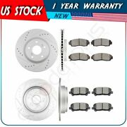 For Honda Odyssey 2011-2014 Front + Rear Brake Pads And Rotors Discs Kit