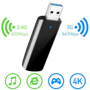 1300mbps Mini Dual Band Usb 3.0 Wifi Wireless 2.4g/5.8g Adapter For Laptop Pc Us