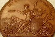 1882 N.y. American Institute Wm. Hoag And Son Riding Plow Excellence Award Medal