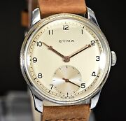 Vintage Cyma Jumbo Cal.576 Oversize 38mm Snap Case 40and039s Gentand039s Watch