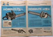 Vintage Ad 1964 Chain Saw Homelite C-91 / Xl-12 Terry Machinery Company