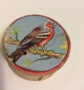 Antique Squeeze Germany Push Toy Bird Singing Robin Blue Sky Childs Toy