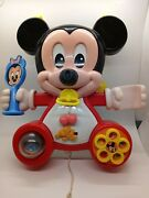 Vintage Mickey Mouse Busy Box Hang Up Crib Toy 1984
