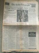 The Daily Telegraph Newspaper 9th August 1974 President Nixon Resigns
