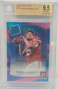 2017 Donruss Optic Pink Rated Rookie Patrick Mahomes Bgs 9.5 Rc 177 Cheifs 17