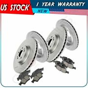 For 2007-2012 Mercedes-benz Gl450 Front + Rear Brake Pads And Rotors Discs Kit